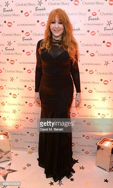 Charlotte Tilbury attends the launch of Charlotte Tilbury's 'Backstage Beauty Booth' counter in the Beauty Hall at Fenwick Of Bond Street on November...