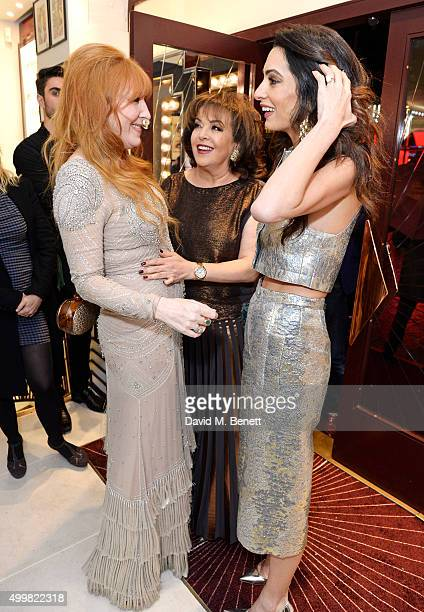 Charlotte Tilbury Baria Alamuddin and Amal Clooney attend Charlotte Tilbury's naughty Christmas party celebrating the launch of Charlotte's new...
