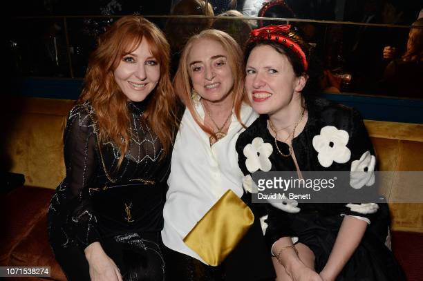 Charlotte Tilbury Camilla Lowther and Katie Grand attend a party hosted by Katie Grand and Jefferson Hack in honour of Miuccia Prada winner of the...