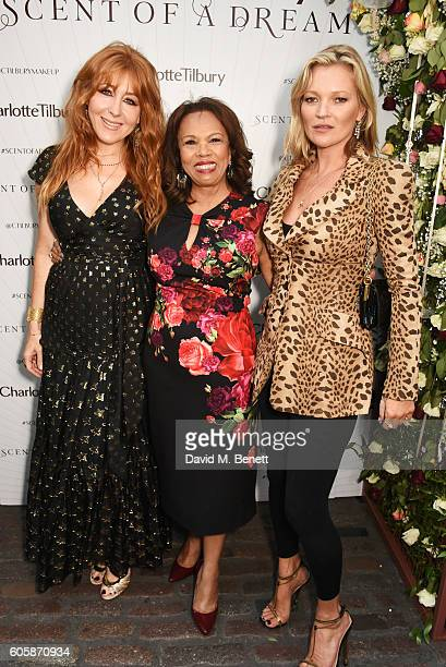 Charlotte Tilbury Candi Staton and Kate Moss attend as Charlotte Tilbury celebrates the launch of her first fragrance Scent Of A Dream with 'face'...