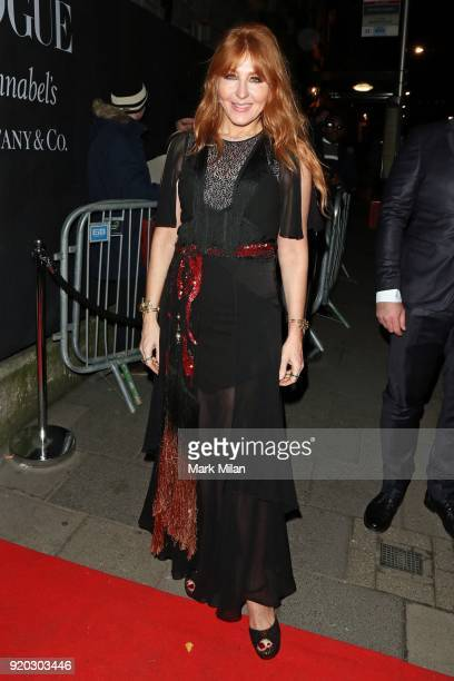 Charlotte Tilbury seen at the Vogue and Tiffany Co party at Annabel's club after attending the EE British Academy Film Awards at the Royal Albert...