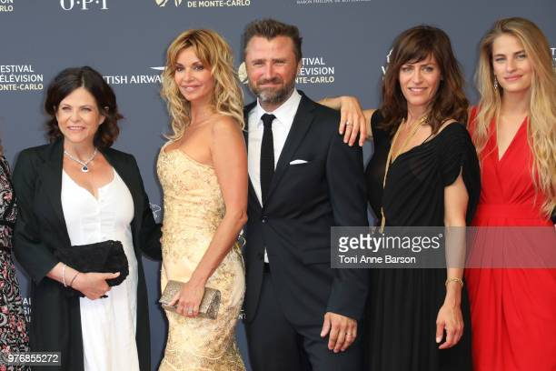 Charlotte Valandrey Ingrid Chauvin Alexandre Brasseur Anne Caillon and Solene Hebert attend the opening ceremony of the 58th Monte Carlo TV Festival...