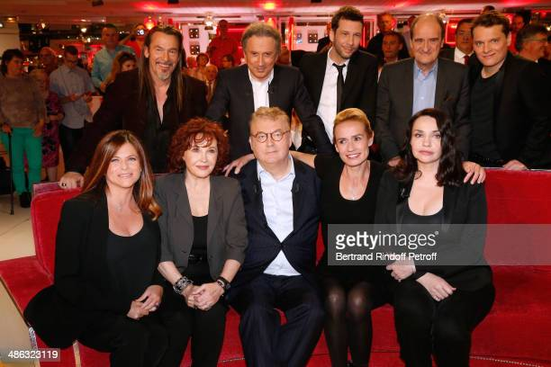 Charlotte Valandrey Marlene Jobert main guest of the show Dominique Besnehard Sandrine Bonnaire and Beatrice Dalle Florent Pagny Michel Drucker Alex...