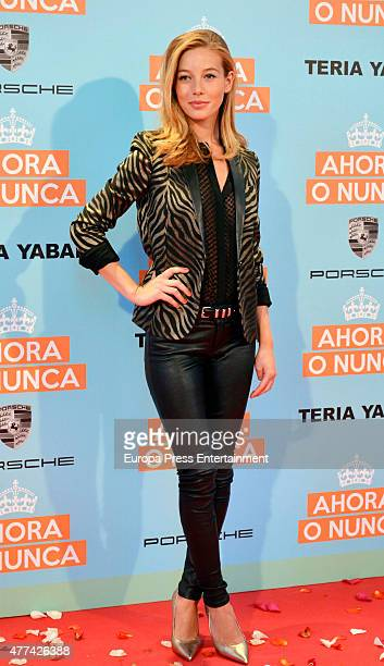 Charlotte Vega attends 'Ahora o Nunca' premiere on June 16 2015 in Madrid Spain