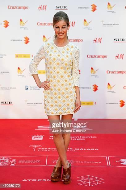 Charlotte Vega attends 'Aprendiendo a Conducir' premiere during the 18th Malaga Spanish Film Festival at Cervantes Theater on April 24 2015 in Malaga...