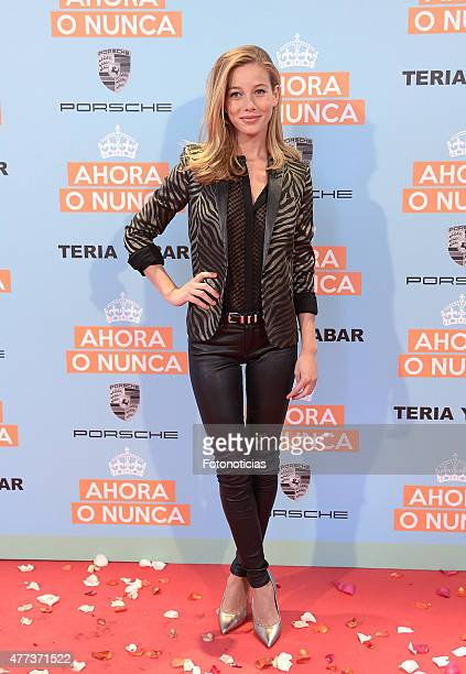 Charlotte Vega attends the 'Ahora o Nunca' premiere at Capitol Cinema on June 16 2015 in Madrid Spain