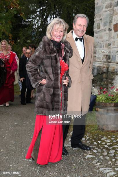 Charlotte von Bismarck and Reinhard von der Becke CEO Lux International and Forbes Lux Group during the wedding of Prince Konstantin of Bavaria and...