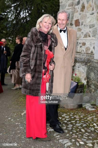 Charlotte von Bismarck and Reinhard von der Becke CEO Lux International and Forbes Lux Group during the wedding of Prince Konstantin of Bavaria and...