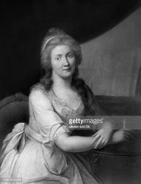 Charlotte von Kalb writer Germany *2507176112051843 acquainted with Goethe and Schiller painting by Johann Heinrich Schmidt Vintage property of...