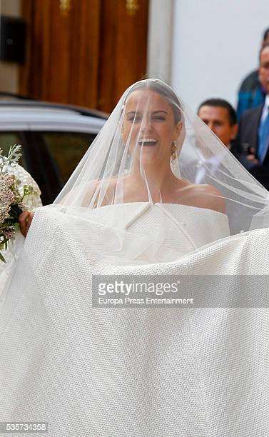 Charlotte Wellesley attends her wedding on May 28, 2016 in Granada, Spain.