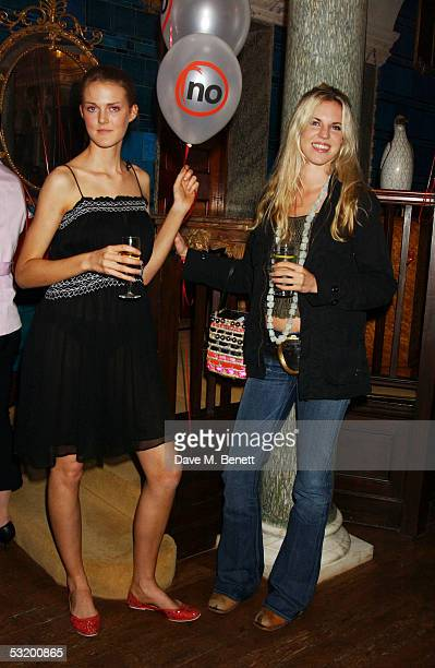 Charlotte Wheeler and Alexandra Aitken attend the Say No To Europe Summer Party at Debenham House Holland Park on July 5 2005 in London England