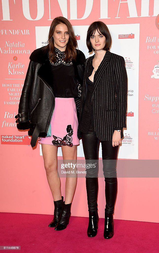 Charlotte Wiggins and Sam Rollinson at The Naked Heart Foundation's Fabulous Fund Fair in London at Old Billingsgate Market on February 20, 2016 in London, England.