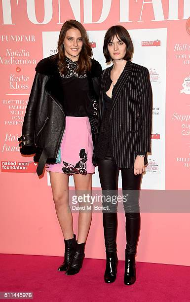 Charlotte Wiggins and Sam Rollinson at The Naked Heart Foundation's Fabulous Fund Fair in London at Old Billingsgate Market on February 20 2016 in...