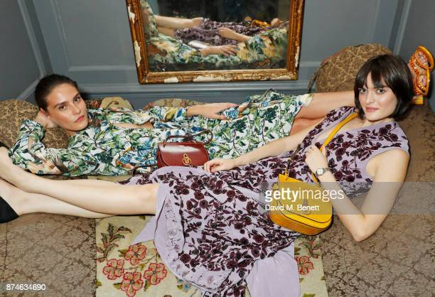 Charlotte Wiggins and Sam Rollinson attend Mulberry's 'It's Not Quite Christmas' party on November 15, 2017 in London, England.