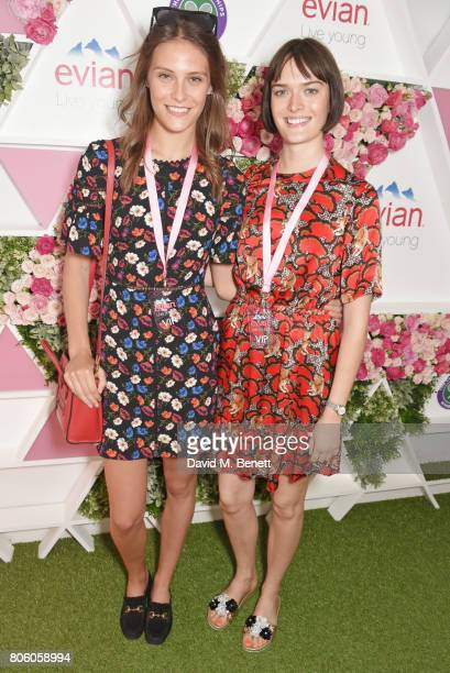 Charlotte Wiggins and Sam Rollinson attend the evian Live Young suite during Wimbledon 2017 at the All England Tennis and Croquet Club on July 3 2017...