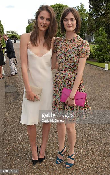 Charlotte Wiggins and Sam Rollinson attend The Ralph Lauren Vogue Wimbledon Summer Cocktail Party hosted by Alexandra Shulman and Boris Becker at The...