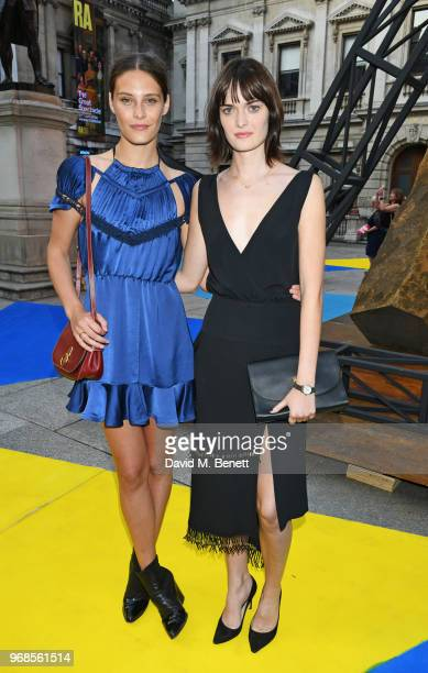 Charlotte Wiggins and Sam Rollinson attend the Royal Academy Of Arts summer exhibition preview party 2018 on June 6 2018 in London England