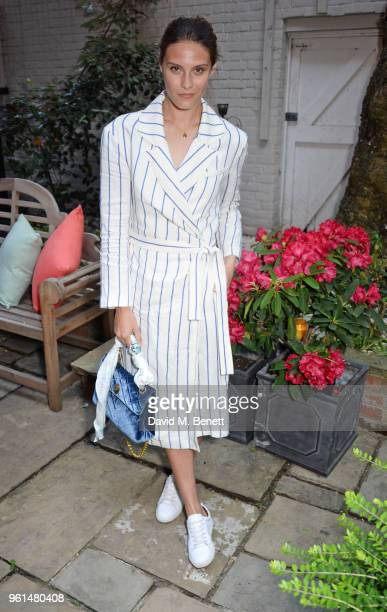 Charlotte Wiggins attends the NETAPORTER dinner hosted by Alison Loehnis to celebrate the launch of Rosie Assoulin's exclusive collection on May 22...