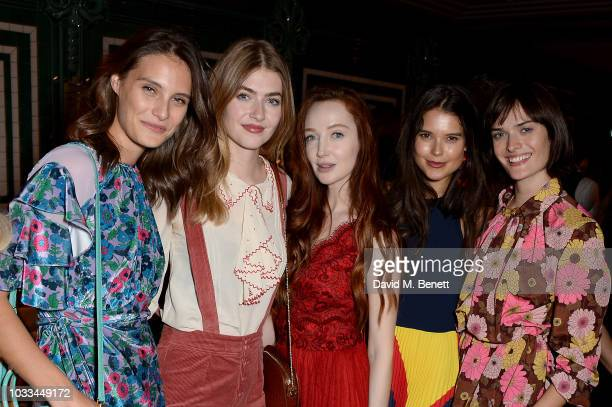 Charlotte Wiggins Elinor Weedon Olivia Grant guest and Sam Rollinson attend Mulberry Supper Club on September 14 2018 in London England
