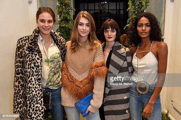 Charlotte Wiggins Eve Delf Samantha Rollinson and Nadia Araujo attend the Stella McCartney Christmas Lights switch on at the Stella McCartney Bruton...