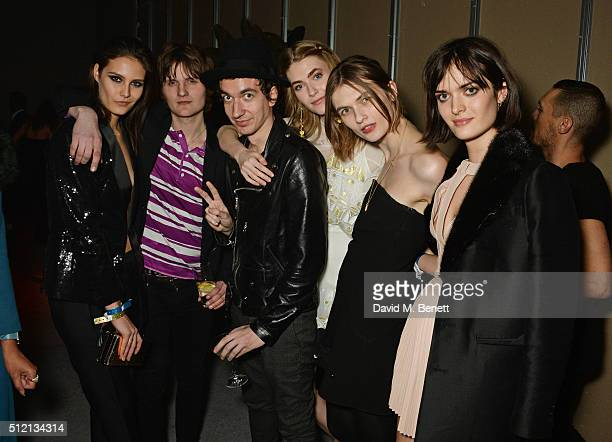 Charlotte Wiggins Jay Sharrock Jeff Wootton Eve Delf Lara Mullen and Sam Rollinson attend the Universal Music BRIT Awards AfterParty 2016 in...
