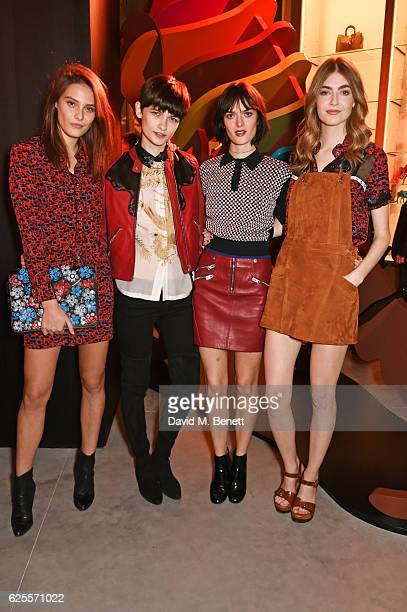 Charlotte Wiggins Lara Mullen Sam Rollinson and Eve Delf attend the launch of Coach House Regent Street on November 24 2016 in London England