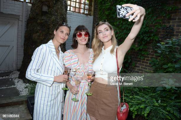 Charlotte Wiggins Sam Rollinson and Eve Delf attend the NETAPORTER dinner hosted by Alison Loehnis to celebrate the launch of Rosie Assoulin's...
