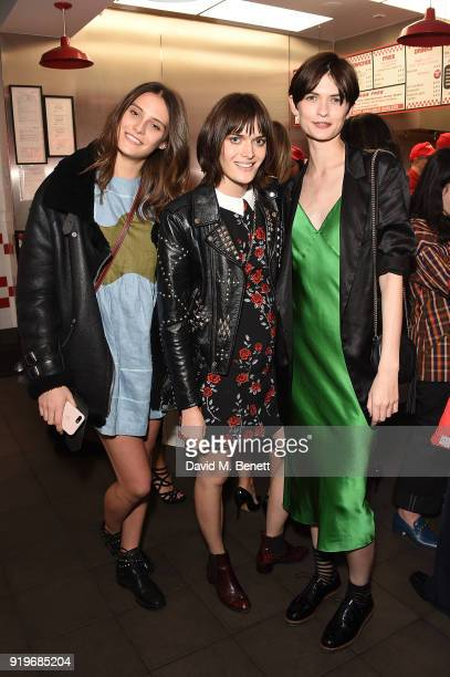 Charlotte Wiggins Sam Rollinson and Lara Mullen attends the Halpern x Browns After Midnight on February 17 2018 in London England