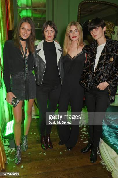 Charlotte Wiggins Sam Rollinson Eve Delf and Lara Mullen attend Fiorucci The Resurrection LFW Party supported by Martini at L'Escargot on September...
