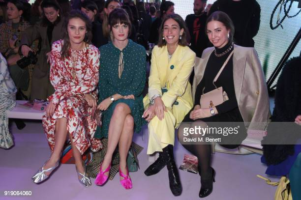 Charlotte Wiggins Sam Rollinson Laura Jackson and Amber Le Bon attend the Mulberry 'Beyond Heritage' SS18 Presentation during London Fashion Week...