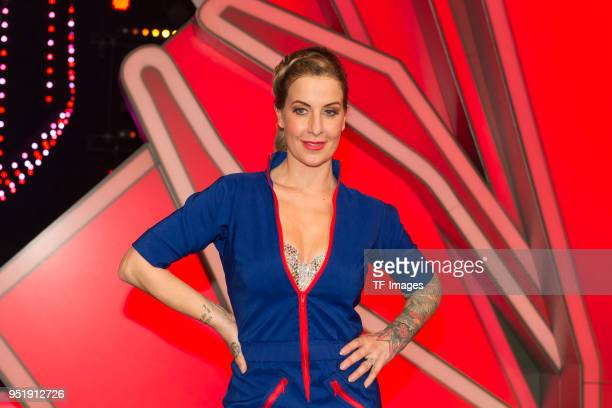 "Charlotte Würdig attends the 4th Show of 'Let's Dance' on April 13, 2018 in Cologne, Germany. ""n"
