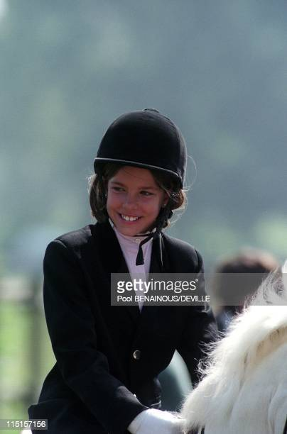Charlotte/MC at international military and jumping derby of Lummen wins the 1st prize Ex AeQuo in Lummen Belgium on July 10 1997 Charlotte Casiraghi