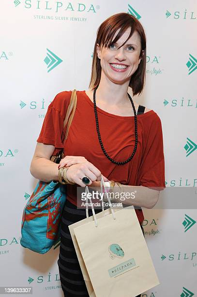 Charlsey Adkins poses with Silpada at Kari Feinstein's Oscars Style Lounge at Mondrian Los Angeles on February 23 2012 in West Hollywood California