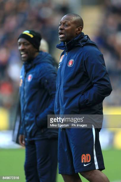 Charlton Athletic assistant manager Alex Dyer with manager Chris Powell