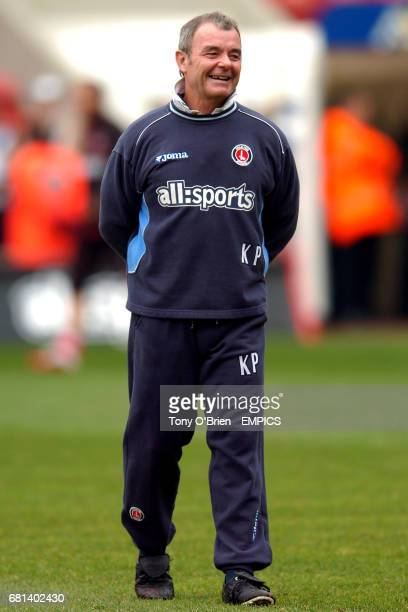 Charlton Athletic assistant manager Keith Peacock during the pre match warm up