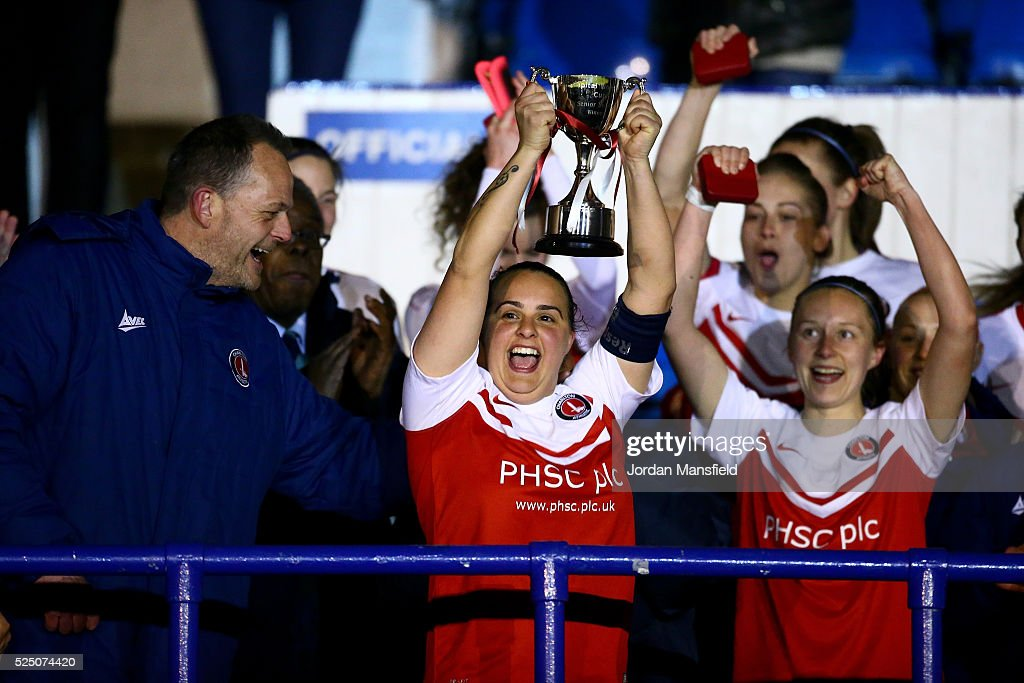 Spurs Ladies v Charlton Athletic: Capital Womens Cup Final : News Photo