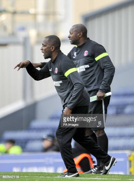 Charlton Athletic manager Chris Powell and Assisant manager Alex Dyer