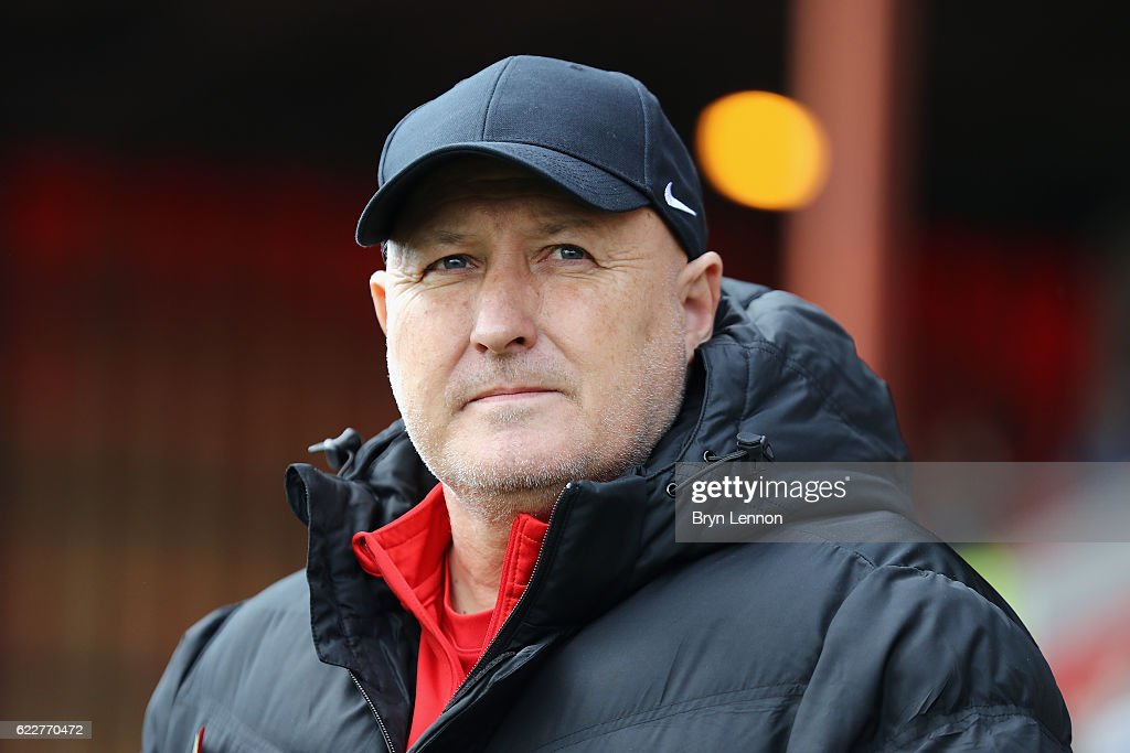 Charlton Athletic Manager Russell Slade looks on prior to the Sky Bet League One match between Swindon Town and Charlton Athletic at County Ground on November 12, 2016 in Swindon, England.