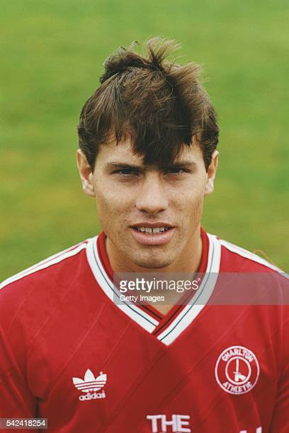 Charlton Athletic player Robert Lee pictured at the pre season photocall prior to the 1987/88 season in London England