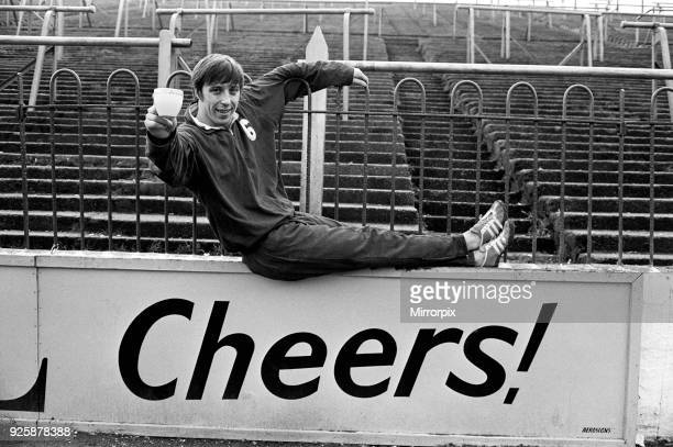 Charlton Athletic team training session at the Valley. Full back Bob Curtis who celebrates his ninteenth birthday on Saturday, marks the occasion...