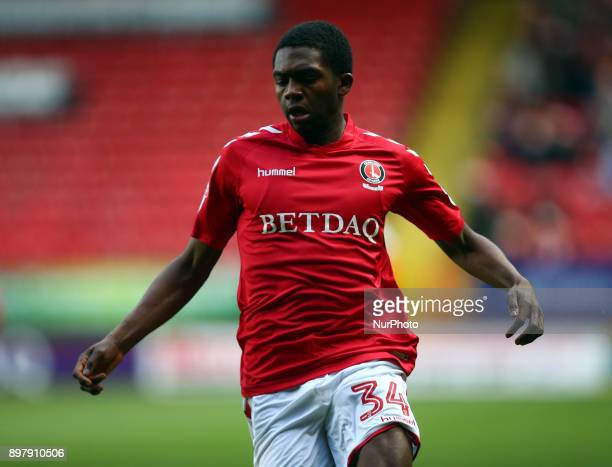 Charlton Athletic's Anfernee Djiksteel during Sky Bet League One match between Charlton Athletic against Blackpool at The Valley Stadium London on 23...