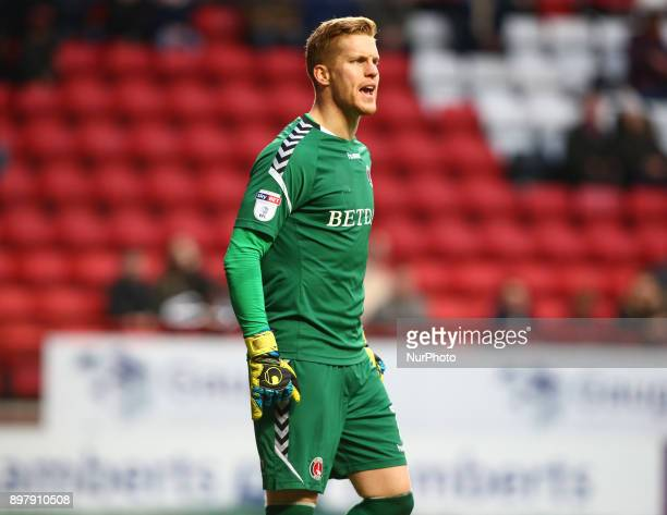 Charlton Athletic's Ben Amos during Sky Bet League One match between Charlton Athletic against Blackpool at The Valley Stadium London on 23 Dec 2017