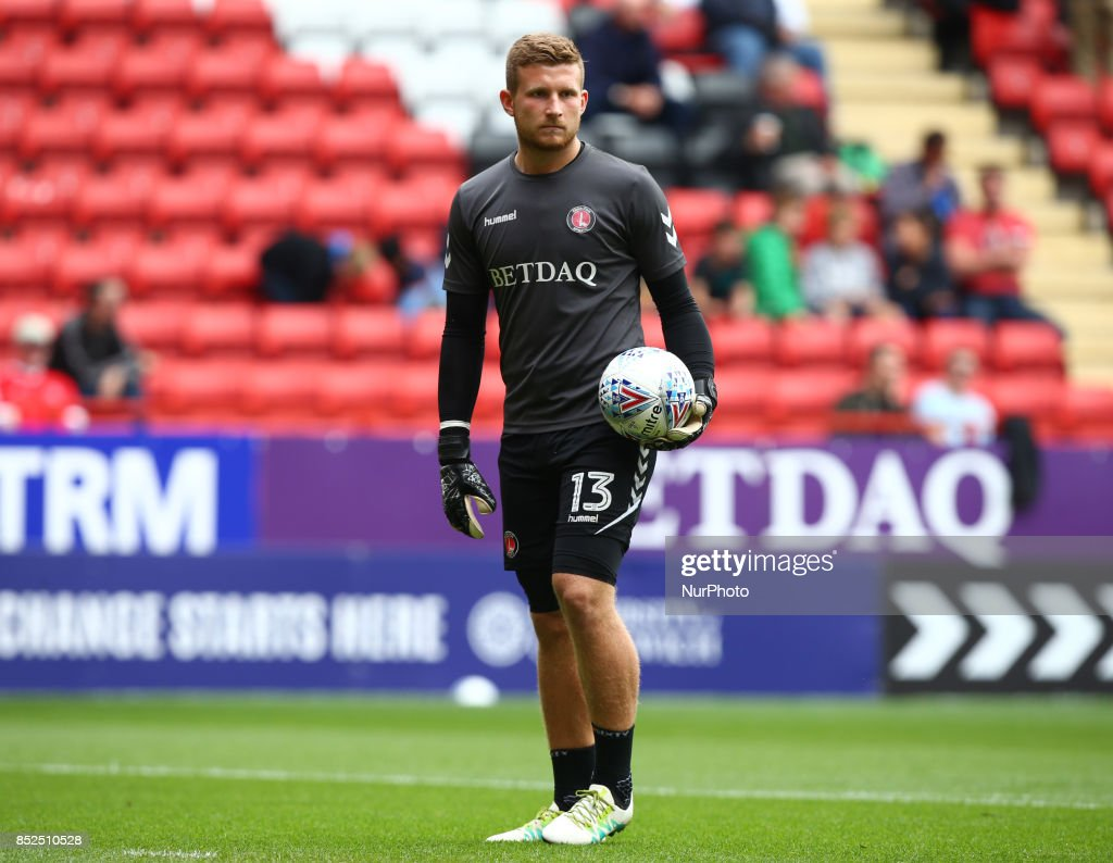 Charlton Athletic's Dillon Phillips during Sky Bet League One match between Charlton Athletic against Bury at The Valley Stadium London on 23 Sept 2017