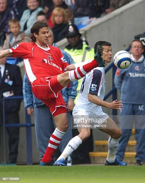 Charlton Athletic's Gonzalo Sorondo foul Bolton Wanderers' Jared Borgetti