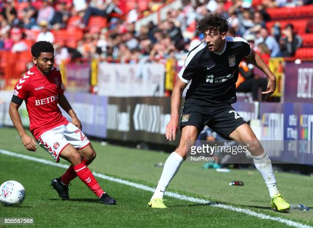 LR Charlton Athletic's Jay Dasilva and Matt Crooks of Northampton Town's during Sky Bet League One match between Charlton Athletic against...