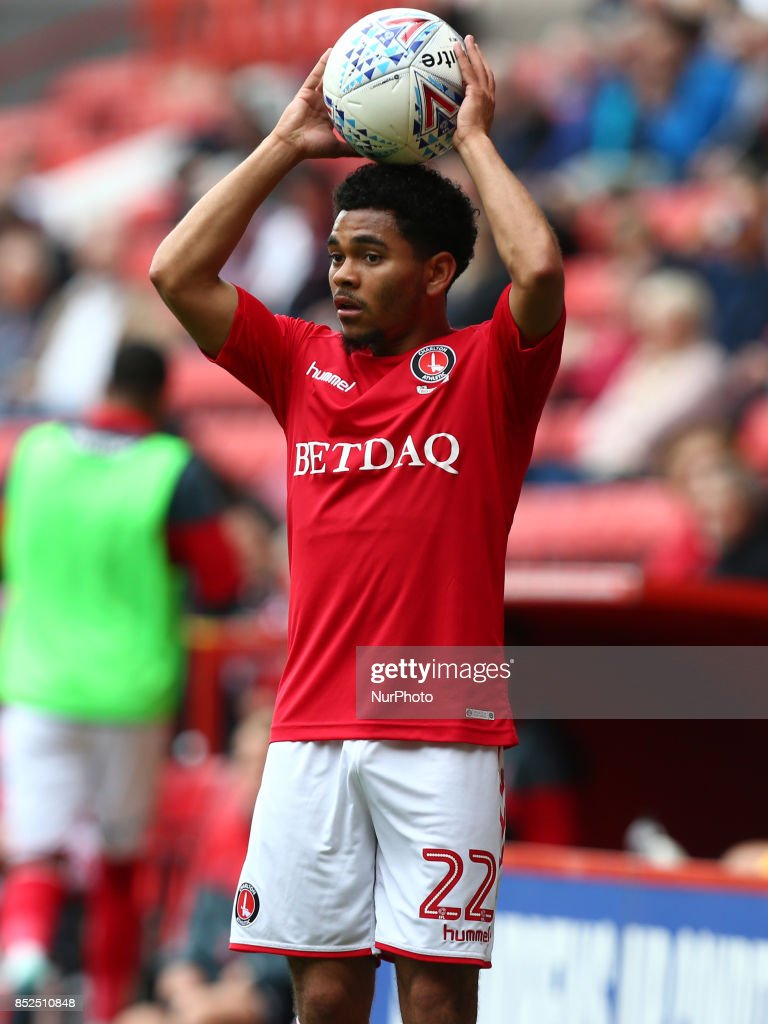 Charlton Athletic's Jay Dasilva during Sky Bet League One match between Charlton Athletic against Bury at The Valley Stadium London on 23 Sept 2017