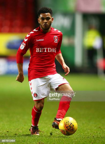 Charlton Athletic's Jay Dasilva during Sky Bet League One match between Charlton Athletic against Blackpool at The Valley Stadium London on 23 Dec...