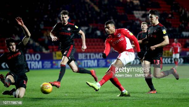 Charlton Athletic's Karlan AhearneGrant in action Charlton Athletic v Sunderland Sky Bet League One The Valley