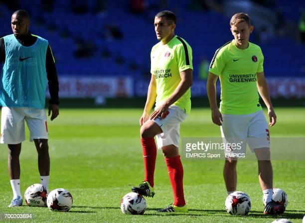 Charlton Athletic's Mikhail Kennedy and Ahmed Kashi