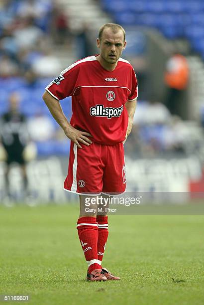 Charlton Athletic's new signing Danny Murphy pauses during the FA Barclays Premiership match between Bolton Wanderers and Charlton Athletic at The...